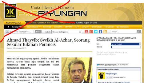 Fitnah di Situs PKS