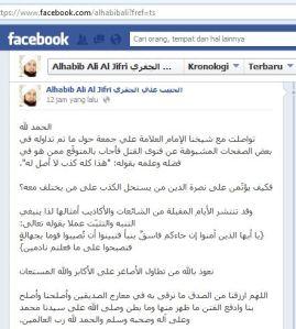 Habib Ali Al Jufri berikan Klarifikasi