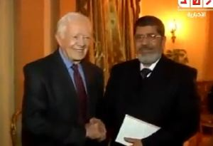 Jimmy Carter bersama Morsi 2