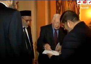 Jimmy Carter bersama Morsi