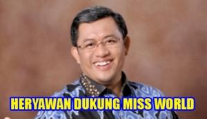 Gubernur PKS Dukung Miss World
