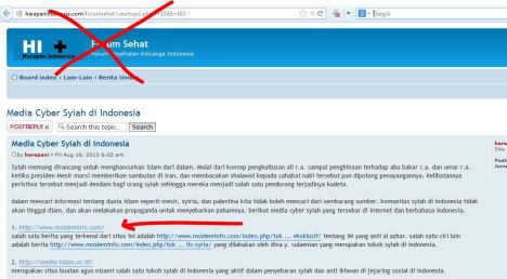 Harapanindonesia.com fitnah Mosleminfo.com