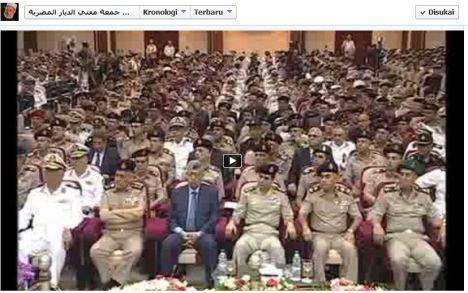 Syaikh Ali Jum'ah tausiyah di hadapa militer