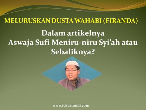 Meluruskan Dusta Firanda Andirja Wahhabi