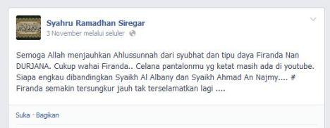 Oknum Wahhabi Serang Firanda Al Wahabi a