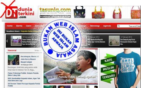 Web orang HTI, bukan Web Islam Aswaja