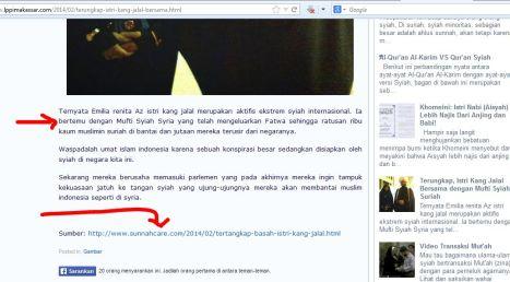 Web Wahhabi Fitnah Ulama Sunni, Copas dari Sunnahcare.com