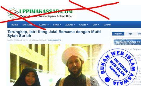 WEBSITE WAHHABI FITNAH ULAMA SUNNI