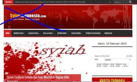 situs Wahhabi menyerang Syi'ah