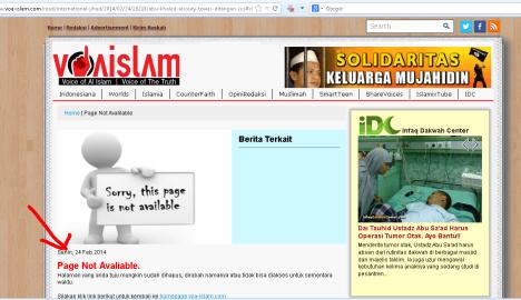 Berita yang dihapus oleh VOA-ISLAM