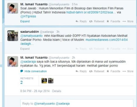 Klarifikasi Ismail Yusanto via Twitter tidak nyambung