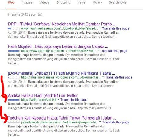 Bukti di Google tulisan Fathi Mujahid 2