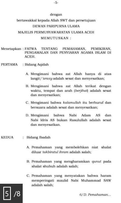 MPU Aceh Fatwa Sesat Salafi-Wahabi 2