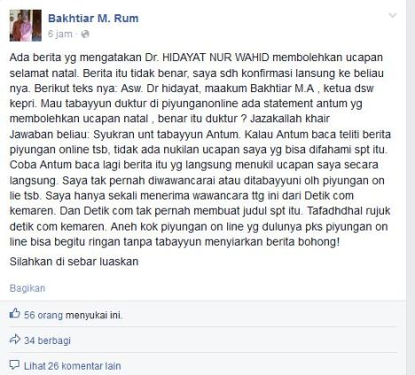 Bakhtiar M. Rum Caleg PKS Kepri