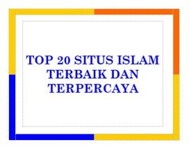 20 SITUS ISLAM TERBAIK DAN TERPERCAYA