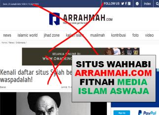 Situs Wahabi Arrahmah Fitnah Media Islam Aswaja MMN - 1