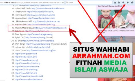 Situs Wahabi Arrahmah Fitnah Media Islam Aswaja MMN - 2