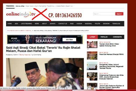 OnlineIndo tv situs Wahabi
