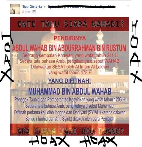 Hoax Wahabi - Tuti Dinata  HOAX. JPG