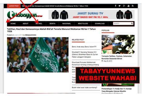 tabayyun news website wahhabi